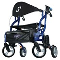 Drive Airgo Fusion Rollator Transport Chair, 300Lb Cap
